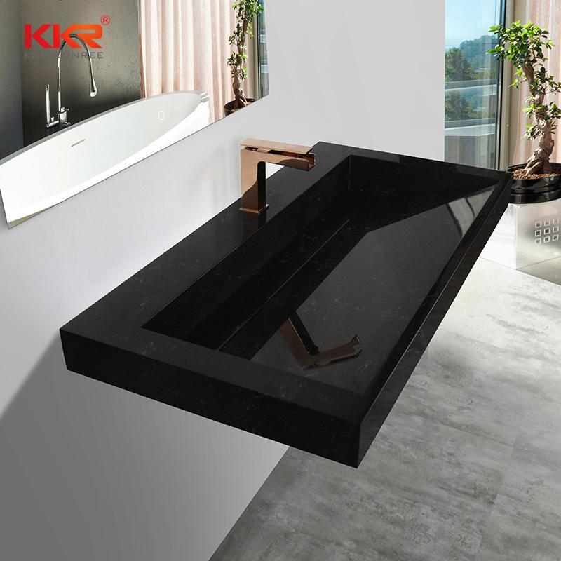 KKR Marble Pattern Wash Basin Modified Acrylic Solid Surface Wall Hung Bathroom Basins Bathroom Sink KKR-M7807