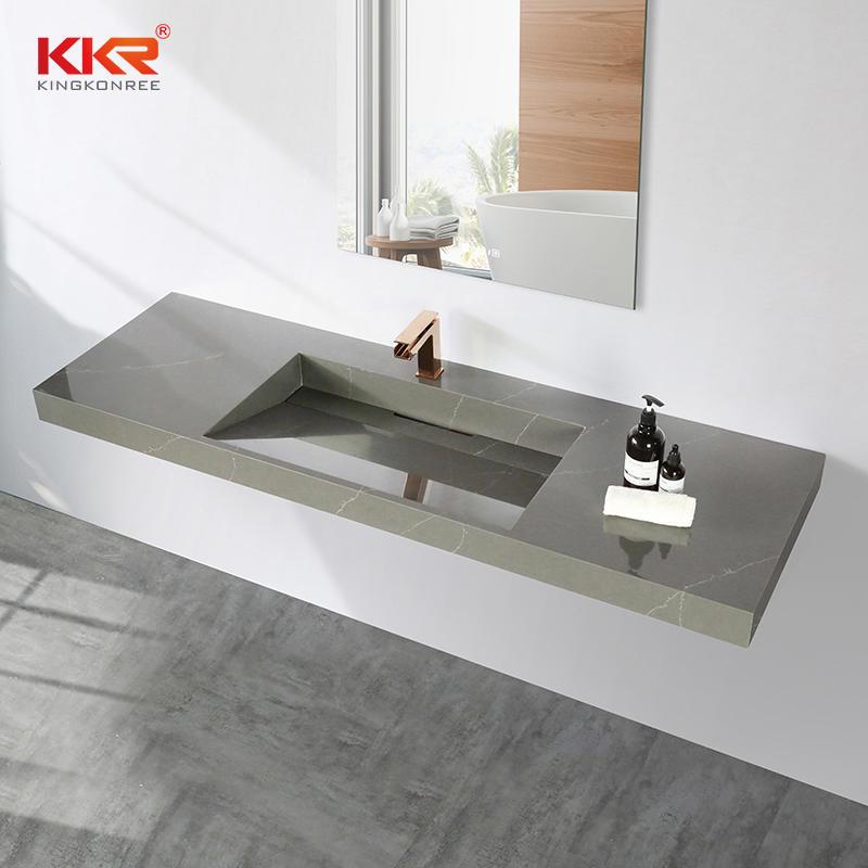 Marble Looking Solid Surface Wall Hung Lavabo Wash Basin KKR-M072