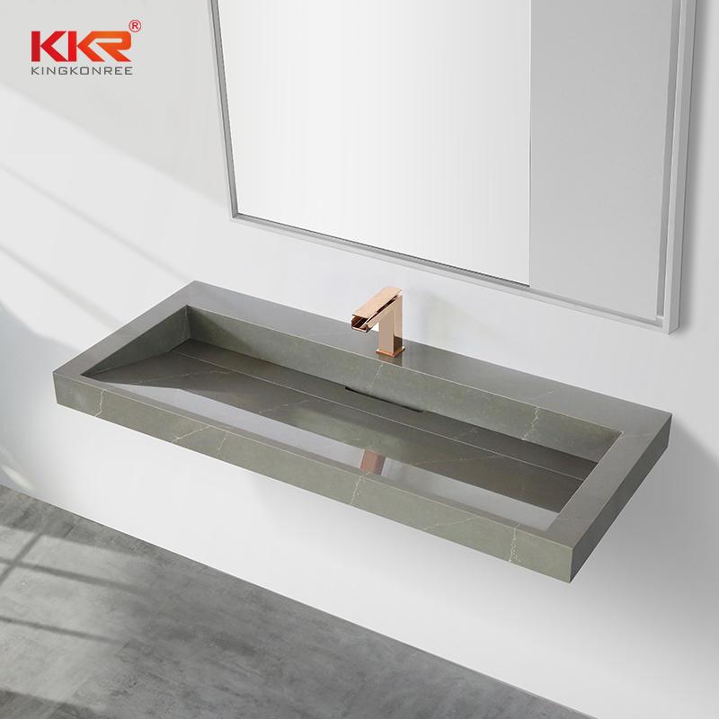 KKR Hot Selling Marble Color Solid surface vanity sink hotel project bathroom modern design sinks KKR-M072