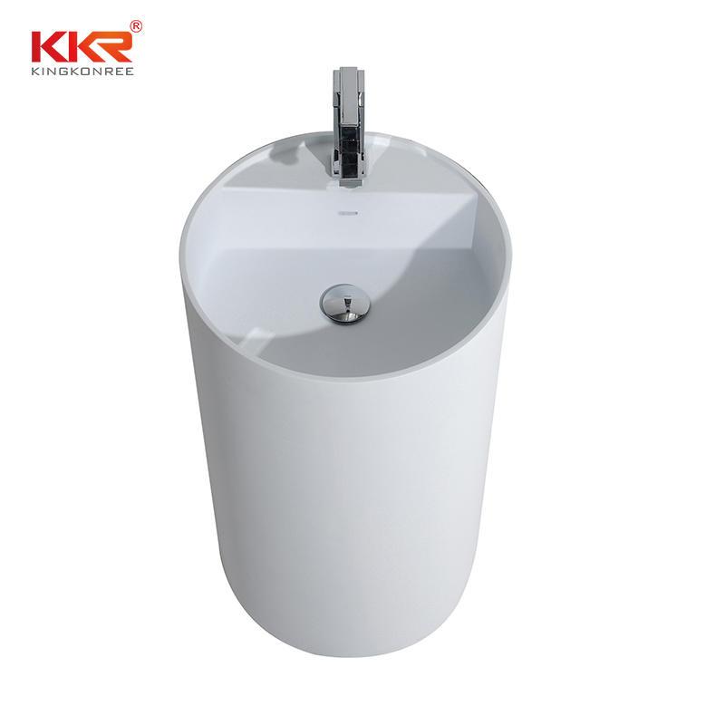 Sanitary Ware Sink Resin Stone Basins Bathroom Pedestal Basin KKR-1597