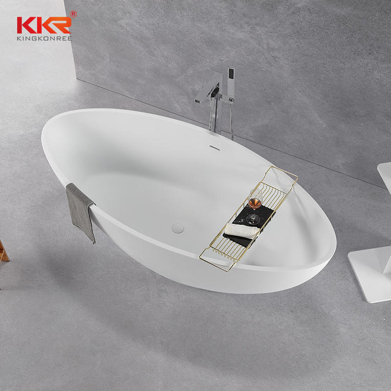 KKR Stone Bath Tub Solid Surface Bathtub,resin Stone Freestanding Bath Tub KKR-B093