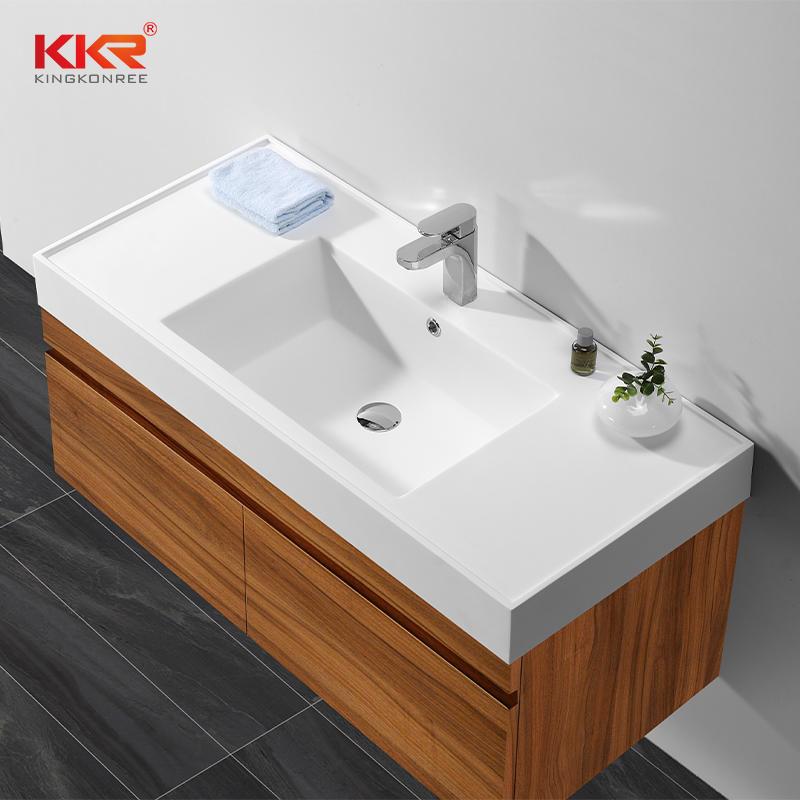 Solid surface classic Italian wall-mounted washbasin cabine KKR-1535