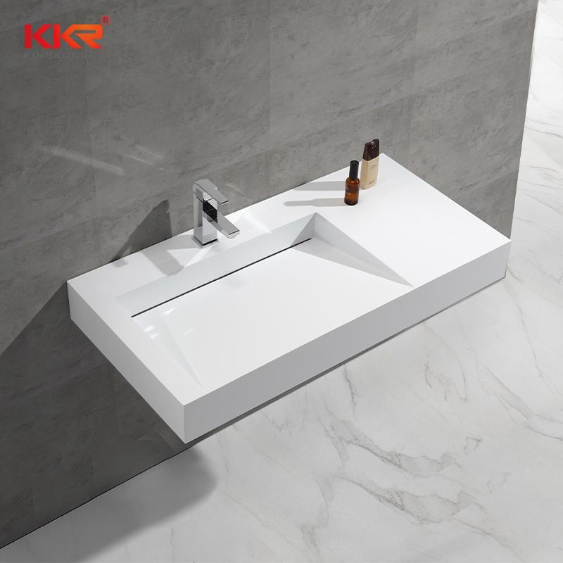 Modern High End Cabinet For Bathroom, Solid Surface Vanity, Design KKR-1375
