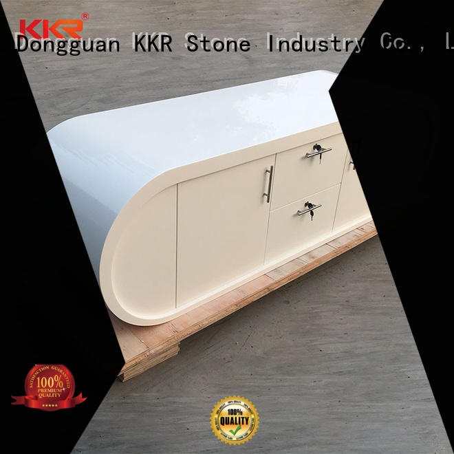 KKR Stone fashion design solid surface desk bulk production for bar table
