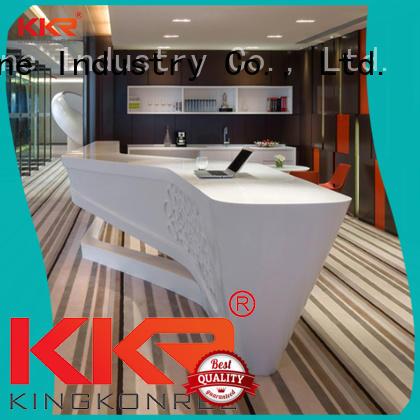 KKR Stone customized solid surface desk vendor for building