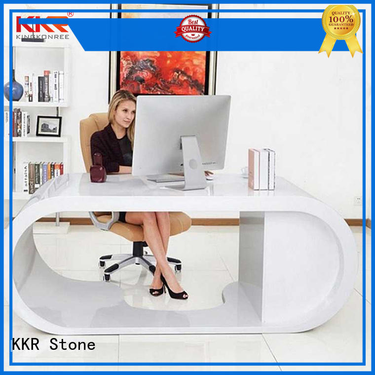 KKR Stone customized modern reception desk supplier for table tops