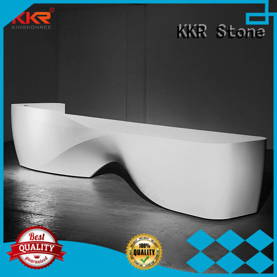pure acrylic curved reception desk long-term-use for bar table