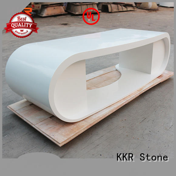 KKR Stone top curved reception desk widely-use for early education