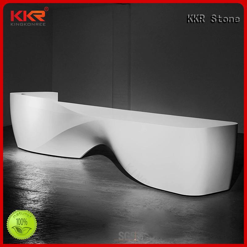 KKR Stone modern reception desk bar for school building