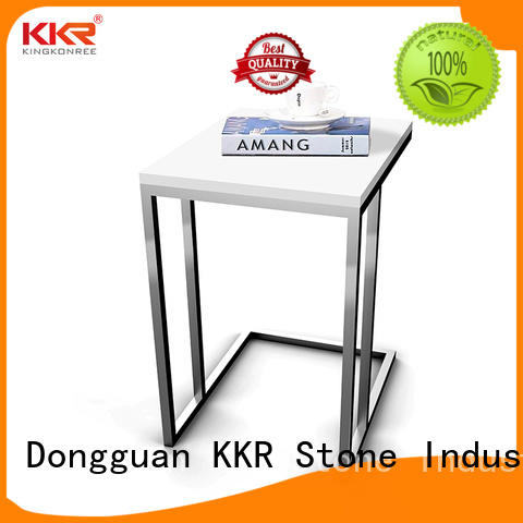 table acrylic bar counter solid KKR Stone