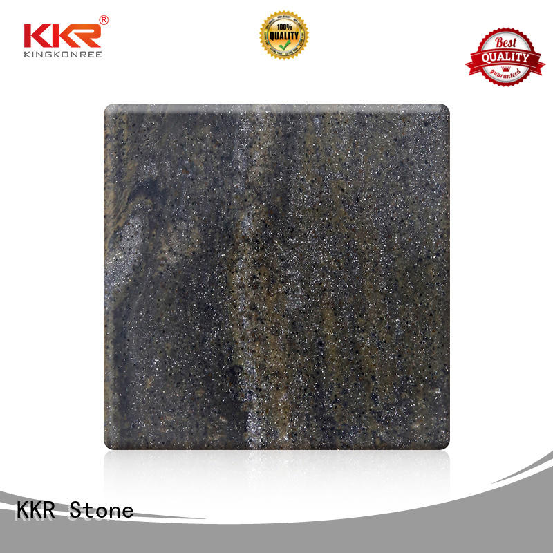 KKR Stone high tenacity solid surface sheet marble for school building