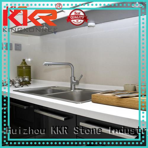 KKR Stone shape kitchen quartz countertops wholesale for garden table