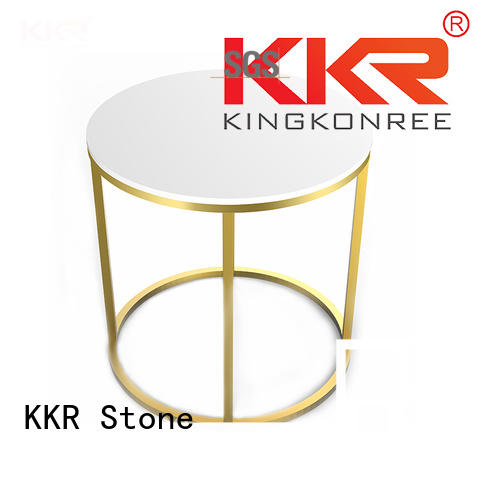Custom solid black artificial marble dining table KKR Stone kitchen
