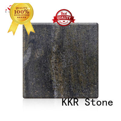KKR Stone pollution free veining pattern solid surface  manufacturer for bar table