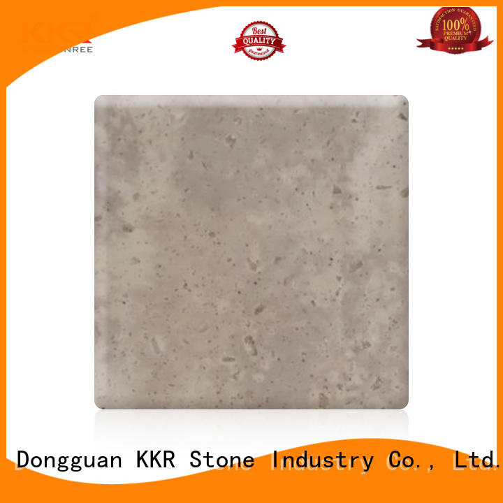 KKR Stone yellow solid surface sheet supplier for kitchen tops