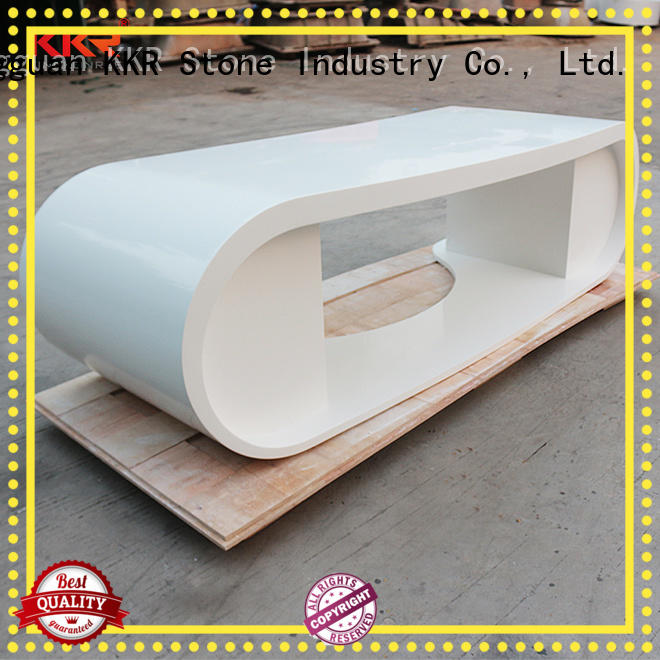 quality solid surface desk customized for building KKR Stone