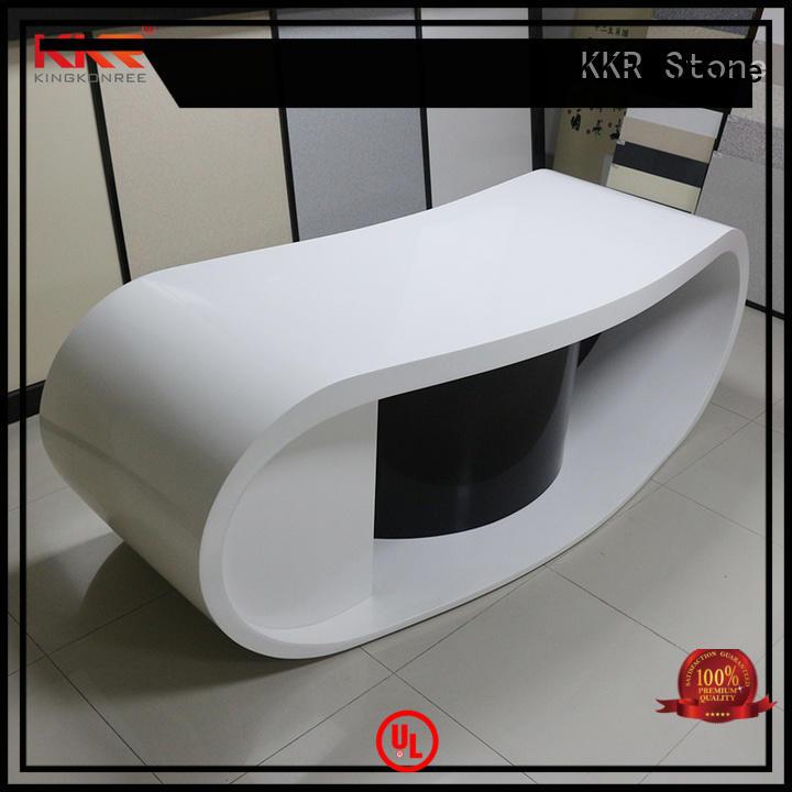 KKR Stone acrylic modern reception desk certifications for kitchen tops