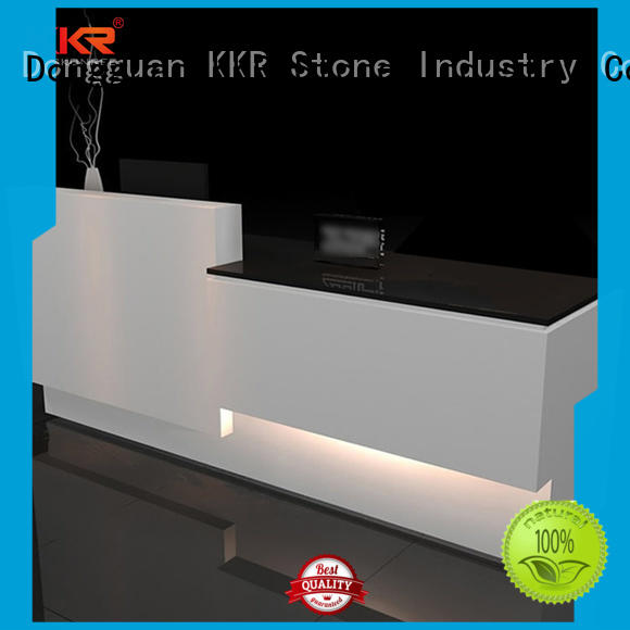 custommade reception desk design sales for school building KKR Stone
