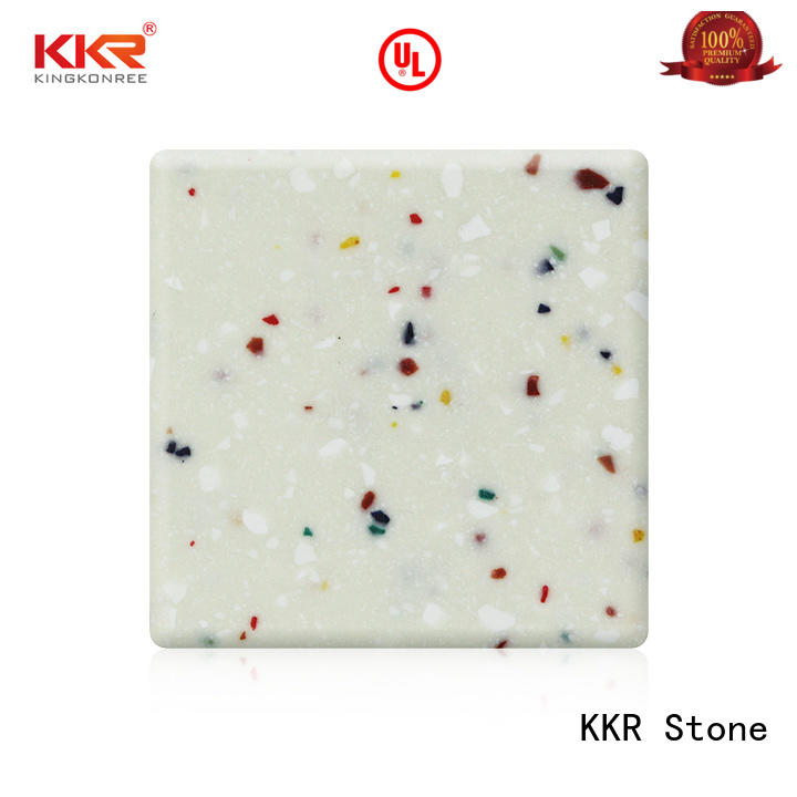 modified solid surface acrilyc sheet black for self-taught KKR Stone