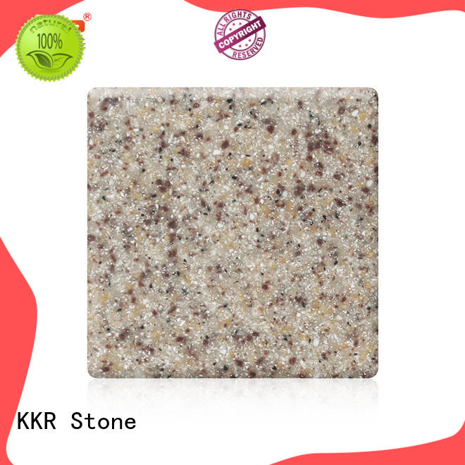 sand solid surface acrylics white for self-taught KKR Stone