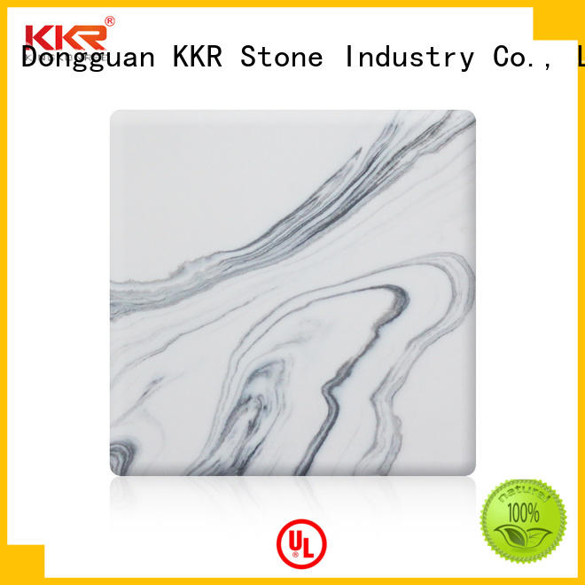 KKR Stone solid solid surface slab effectively for early education