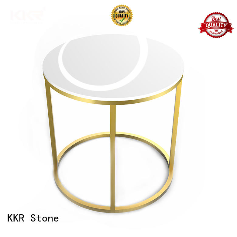 KKR Stone marble acrylic solid surface table tops