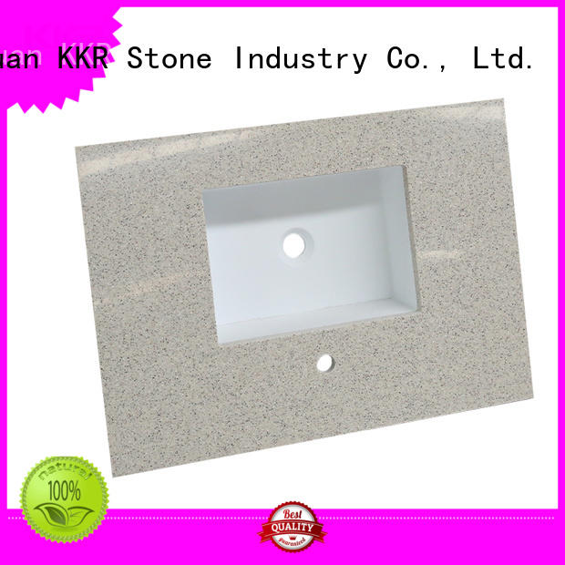 artificial bathroom counter tops China for school building KKR Stone