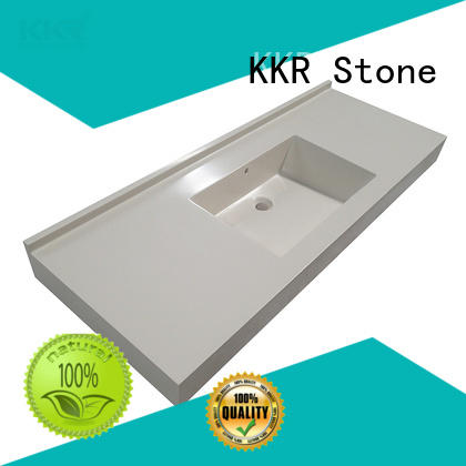 KKR Stone marble solid surface bathroom countertops long-term-use for worktops