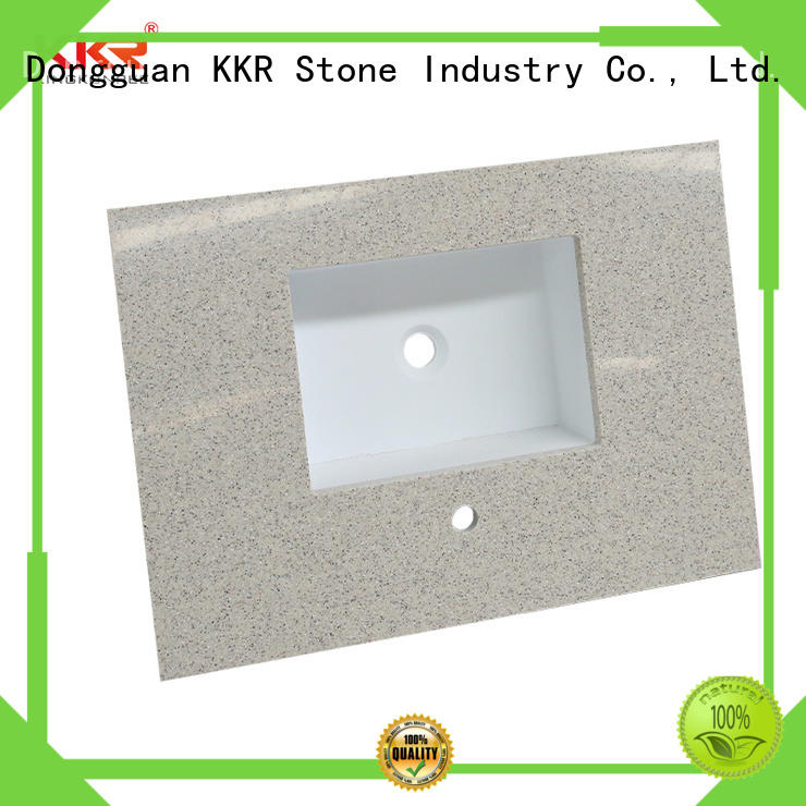 KKR Stone artificial bathroom counter tops certifications for table tops