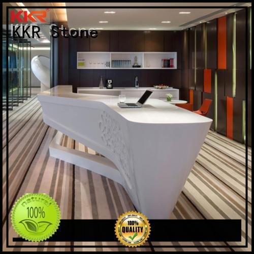 KKR Stone designing solid surface desk free design for table tops