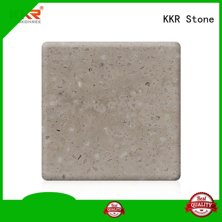KKR Stone black solid surface slab for home