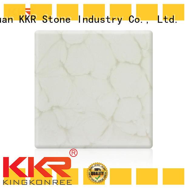 KKR Stone retardant translucent solid surface free design for entertainment