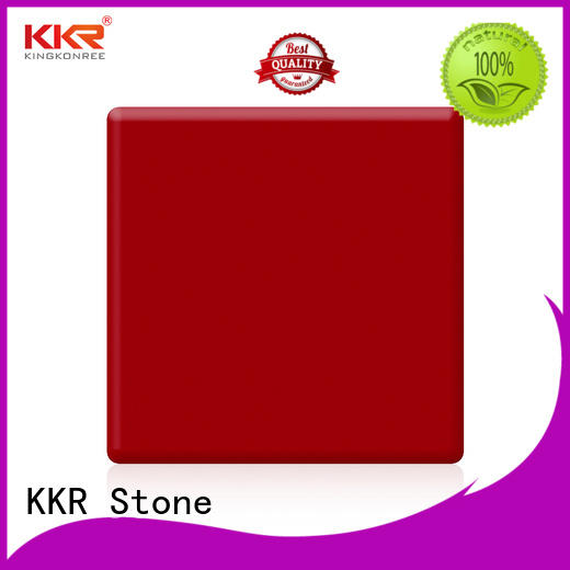 KKR Stone solid solid surface factory superior chemical resistance for self-taught