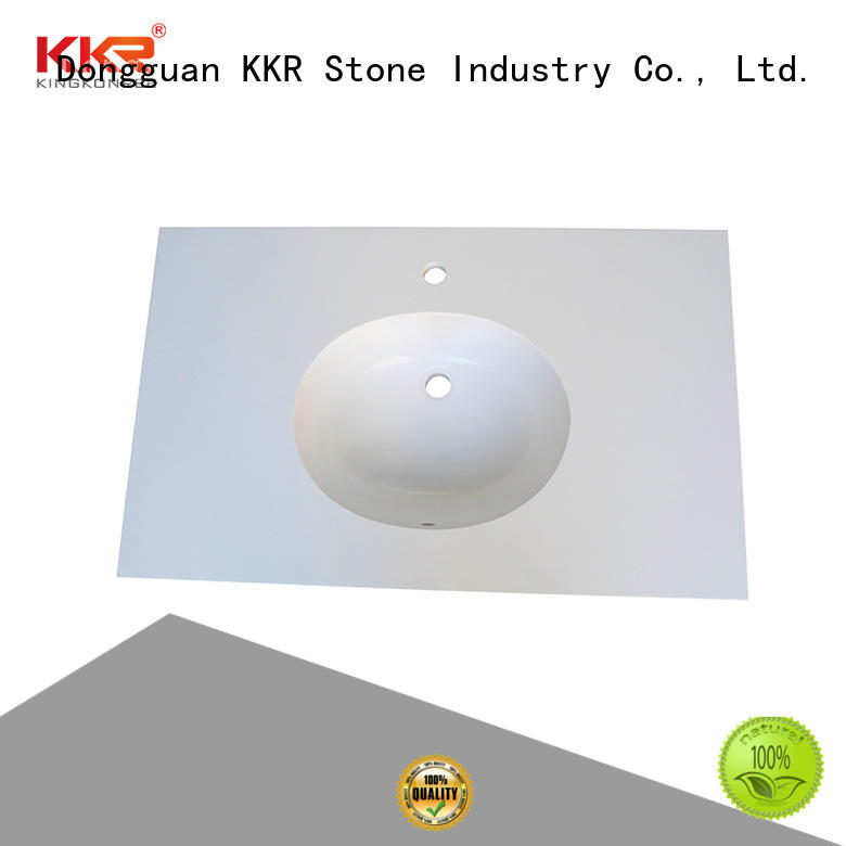 KKR Stone custom-made solid surface countertop in-green for home