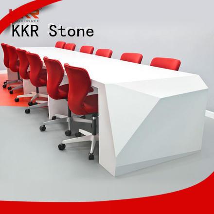 KKR Stone countertop reception desk countertop bulk production for entertainment