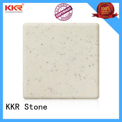 solid surface sheet slabs length for garden table KKR Stone