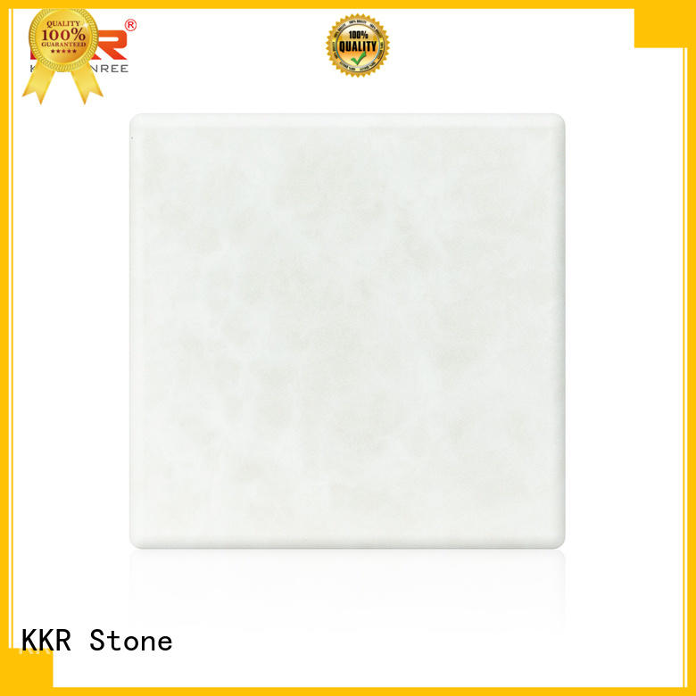 KKR Stone light weight translucent solid surface material with good price for home