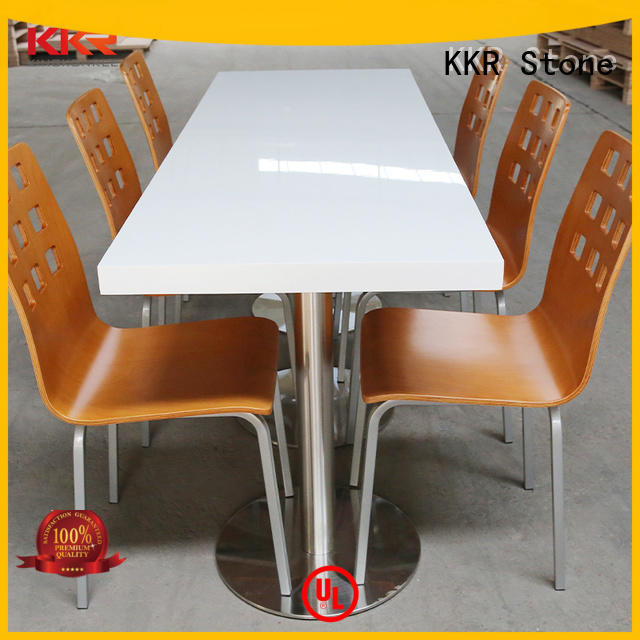 KKR Stone marble dining table round artificial