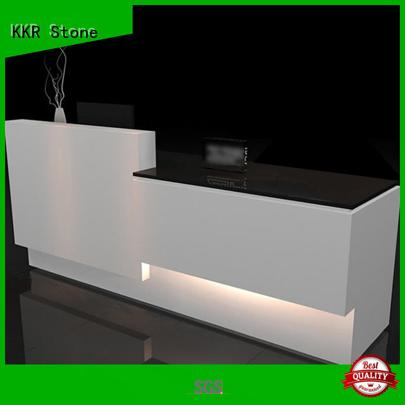 desk reception desk design certifications for entertainment KKR Stone