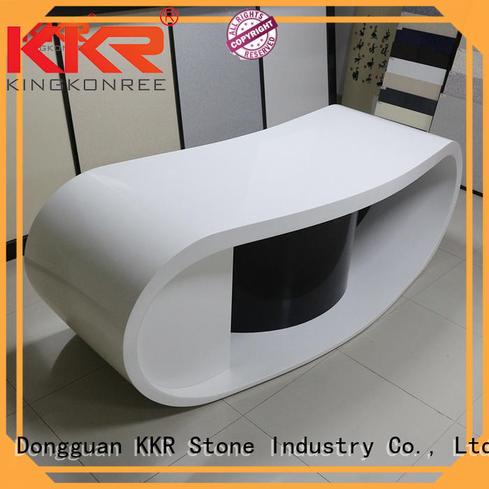 solid reception desk countertop free quote for school building KKR Stone