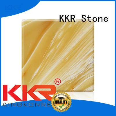 KKR Stone non-toxic translucent resin panel free design for garden table