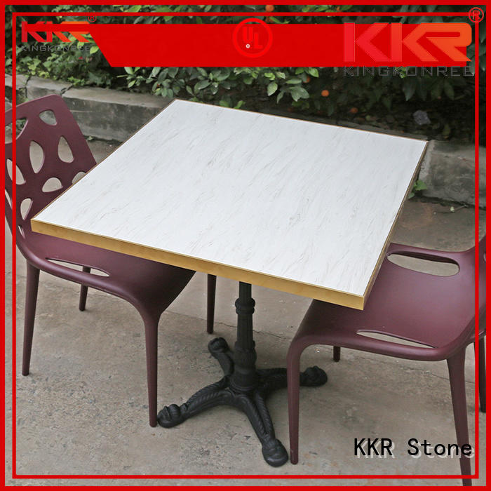 artificial stone dining table marble