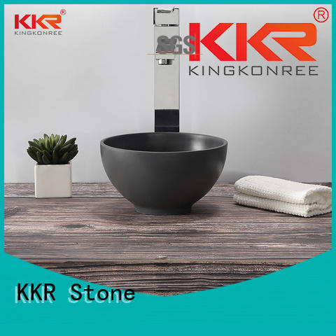 KKR Stone easy to clean undermount bathroom sink in good performance for school building
