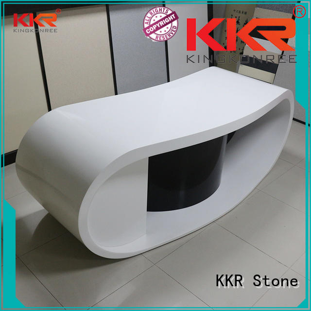 KKR Stone lassic style reception desk design custom-design for early education
