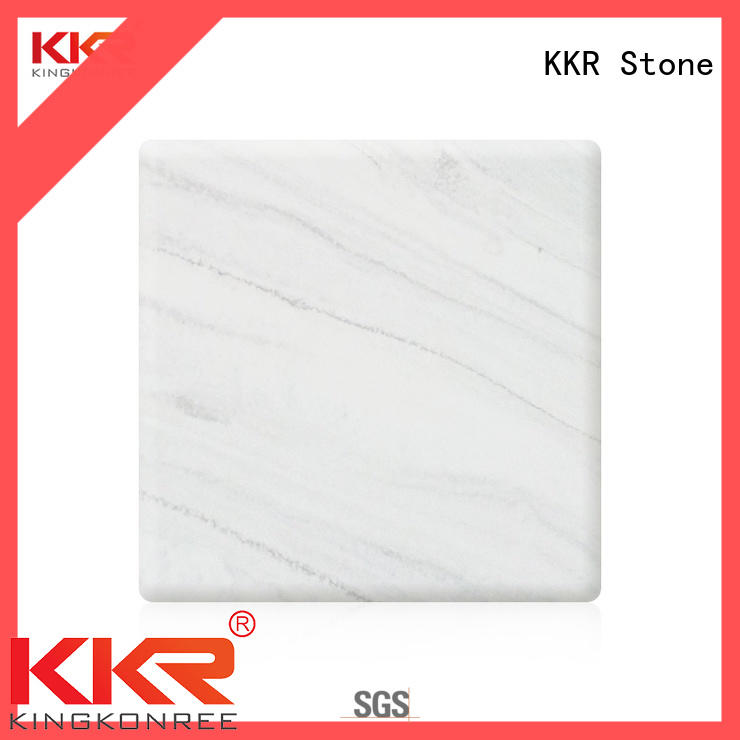modified solid surface sheet marble for school building KKR Stone