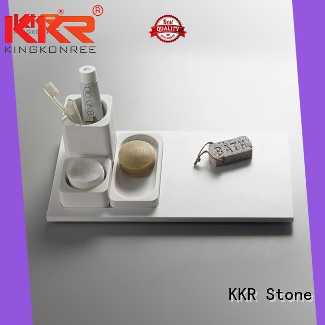 KKR Stone pattern acrylic bathroom shelf wholesale for home