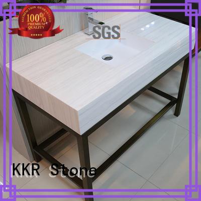 single vanity top bathroom quality for table tops KKR Stone
