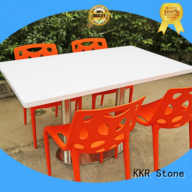 artificial marble top dining table sets restaurant KKR Stone