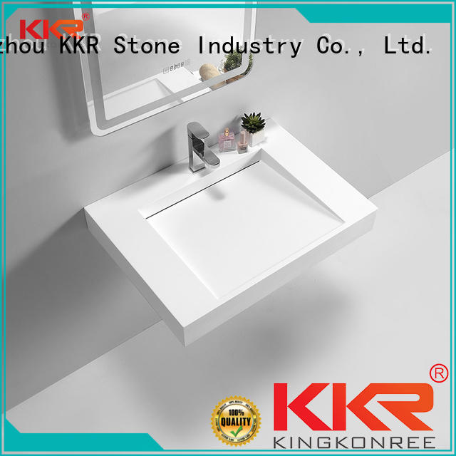 KKR Stone modern countertop basin supply for worktops