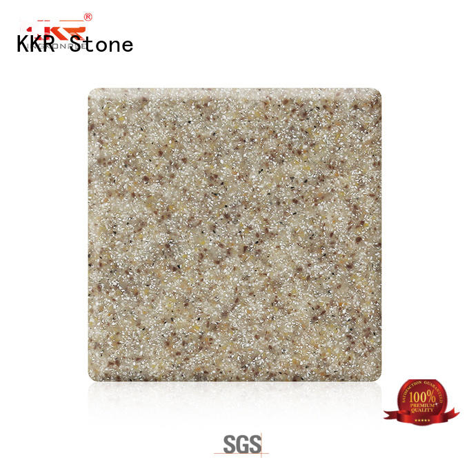 KKR Stone artificial solid surface acrilyc sheet superior bacteria for worktops